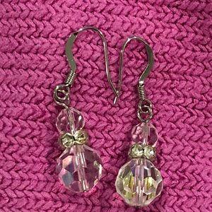 Jewelry - Clear Crystal Dangle Earrings